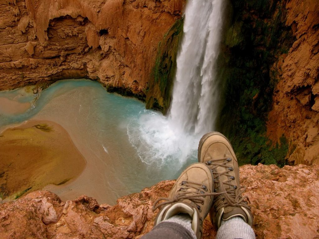 Boots and Waterfall