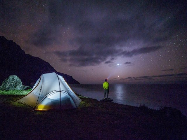 Camping in Night