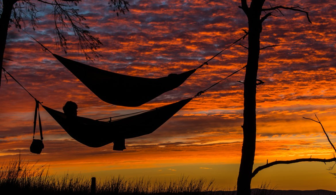 Hammocks and sunset