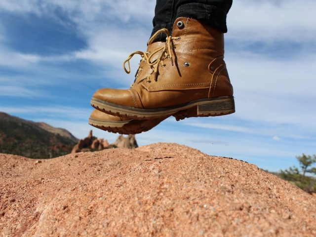 Hiking Boots Jump