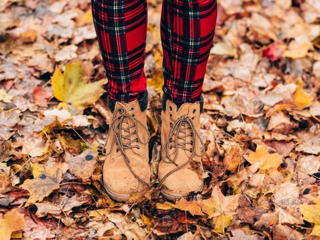 Hiking Boots in Autumn