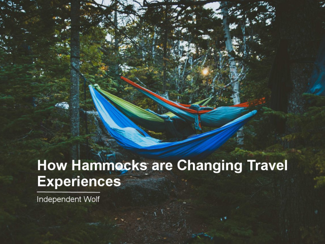 How Hammocks are Changing Travel Experiences