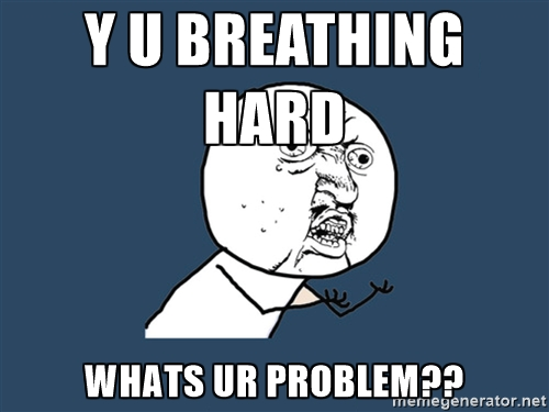 breathing hard meme
