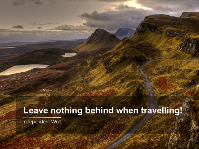Pack it out! Why it's important to leave nothing behind when travelling