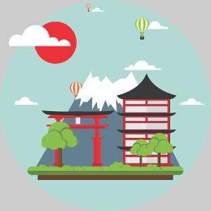 Japan Graphic Icon