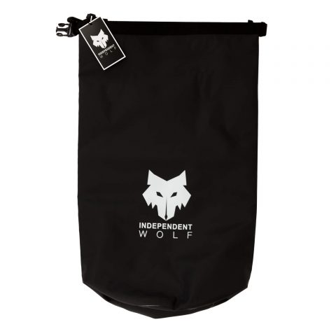 black independent wolf 20l dry bag opened