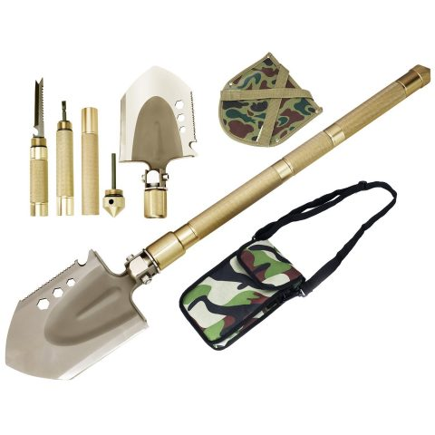 Rose Kuli Compact Folding Shovel Military Portable Shovel Outdoor Tactical Spade for Hiking