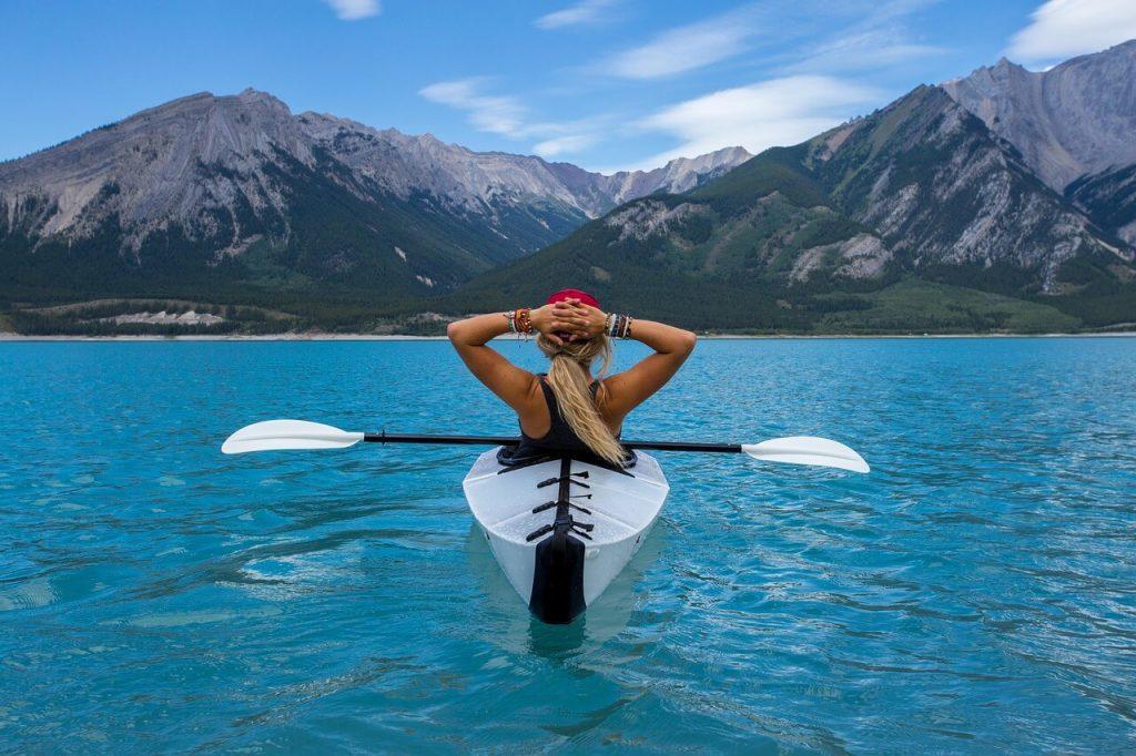 amazing landscape from kayak