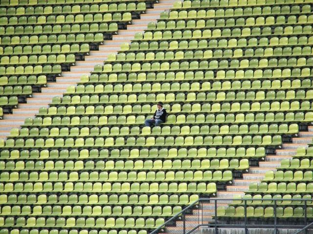 man in stadium