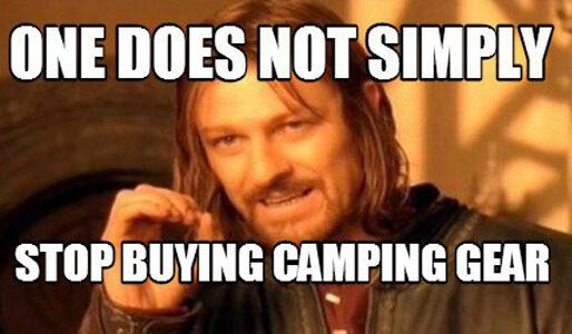 camping gear meme