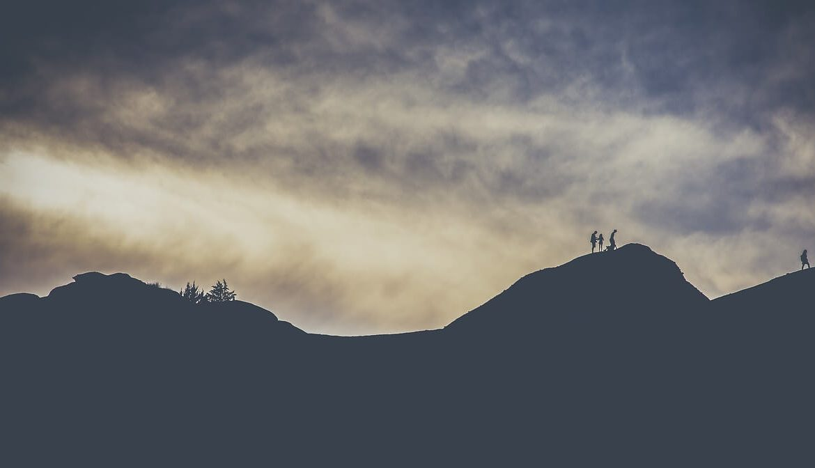 hikers in trail