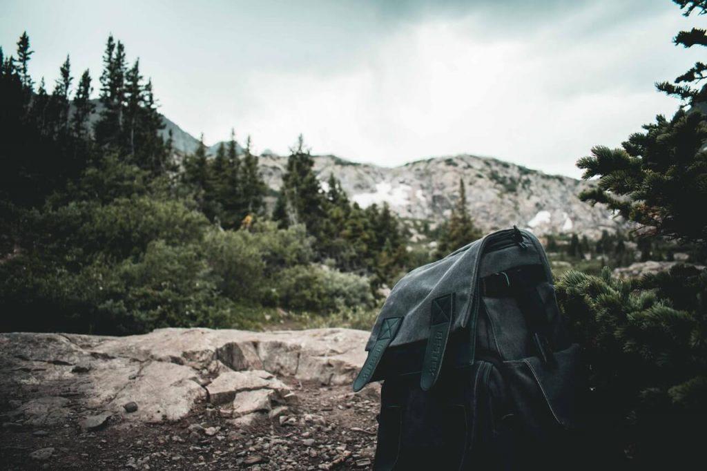 black small weekend backpack