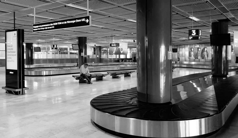 empty airport conveyor