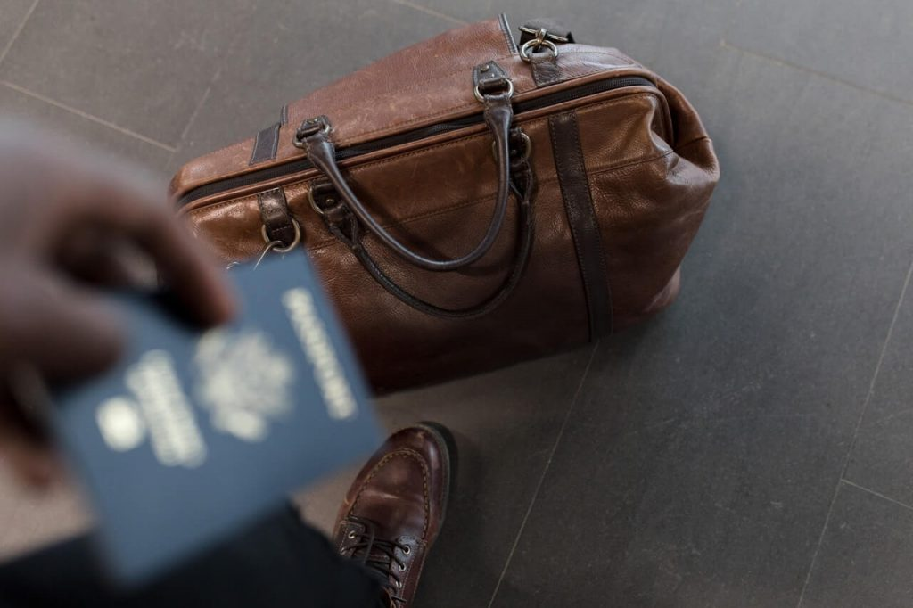 brown duffel bag for travel