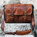 brown leather womens messenger bag for women