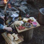 diy finer camping table