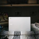 computer in camper van