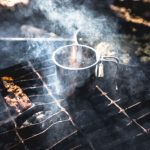 heating food and drink on grill
