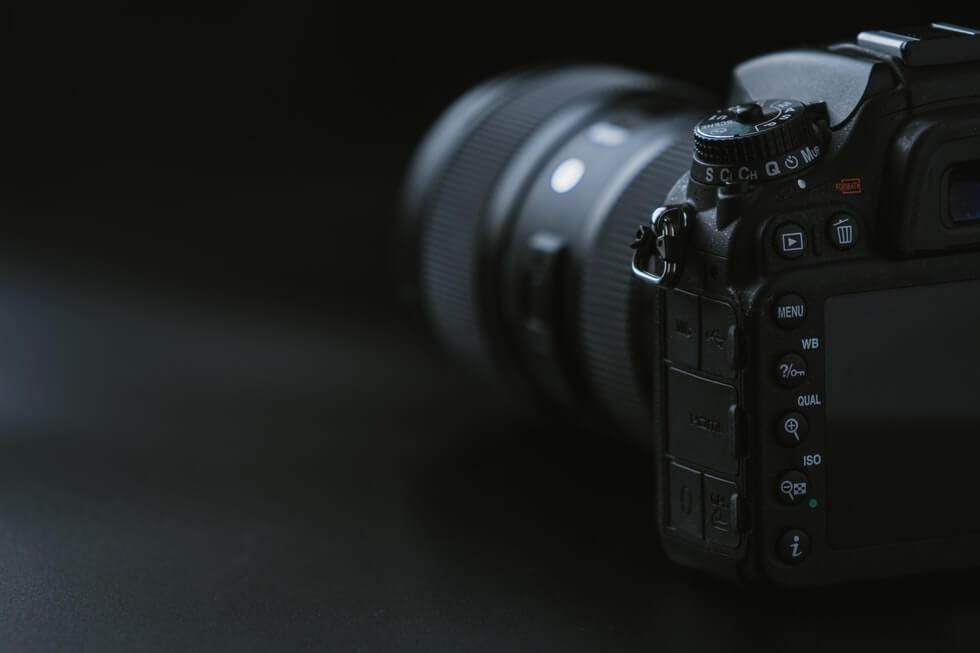 black mirrorless camera